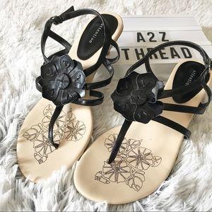 Attention Kitten Heel Strappy Flower Sandals